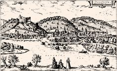 (Bratislava) by Braun and Hogenberg, Civitates Orbis Terrarum Latin edition of volume IV was published in *Text on top right:Posonium vel Pisonium vt Lazius Hungariae urbs. by Georg Braun and Frans Hogenberg Civitates Orbis Terrarum. Bratislava, Hotels, Vintage Drawing, City Maps, Lutheran, North Africa, 16th Century, Old Pictures, African Art