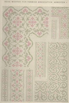 1 / Blatt 3 - Neue Muster-Vorlagen Fur Farbige Kreuzstich-Arbeiten - A. Scheffers - Published by J. M. Gebhardt's Verlag, Leopold Gebhardt, 1887                                                                                                                                                     Mehr