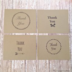 4 {FREE} Printable Thank You Cards - love the sweetness and simplicity of these designs.  Keeping for later use, too.