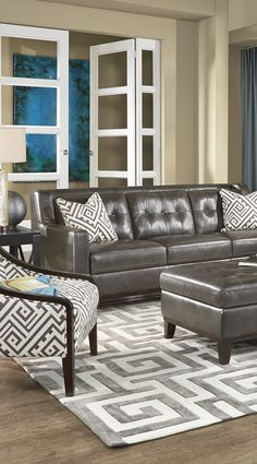 If you're seeking a sleek, sophisticated style for your living space, look no further than the modern Reina collection.
