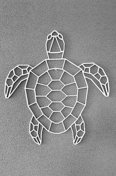 Geometric Drawing, Geometric Designs, Geometric Shapes, Geometric Animal, Metal Art, Wood Art, Animal Drawings, Art Drawings, Tape Art