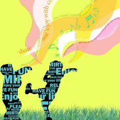 락(樂)를 Typo를 이용하여 표현한 GraphicDesign