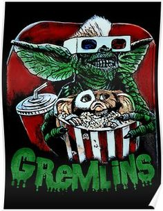 Awesome Horror shirt for men, woman or kid. Onesie for baby available. Gremlins T-shirt. Scary Movies, Horror Movies, Vintage Comics, Vintage Posters, Les Gremlins, Art Sinistre, Doom Metal Bands, Scary Wallpaper, Vintage Horror