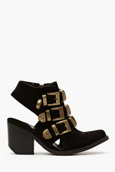 Tripoli Cutout Boot - Black Suede