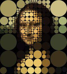 Mona Mosaic 6 [Jeff Clark] (Gioconda / Mona Lisa)