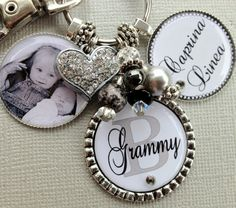 Mothers day idea...  Photo Personalized Keychain Children's Names Valentine by buttonit, $34.00