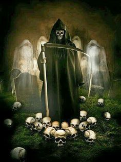 Skulls Skeltons and Reapers
