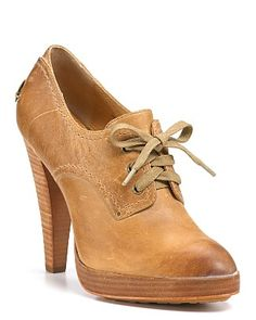 Frye stacked heel oxfords {want}