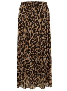Dorothy Perkins  Brown leopard print maxi skirt   this is so super cute with black boots and an awesome denim jacket!