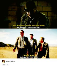 I loved that callback to Season 1. If Agent Carter doesn't get a third season I'm gonna cry...