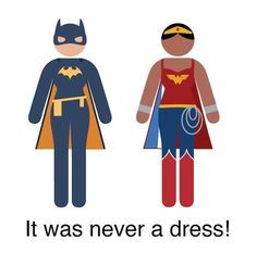 You only assumed that pictograph person was wearing a dress! Creative Reveals Women's Bathroom Sign Figure Is Wearing a Super Cape | athenna-design