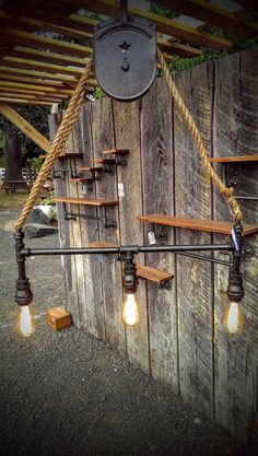 Beautiful pulley light listing at https://www.etsy.com/listing/242094145/industrial-pipe-light-with-pulley
