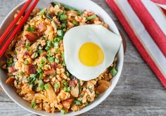 Transform leftover rice into a salty, spicy, mouthwatering dinner with just a few added ingredients that pack a flavorful punch. Get the recipe here.