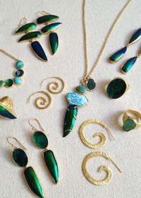 HEATHER BENJAMIN JEWELRY Beetle wings