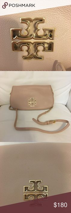 0ee7ab297962 Tory Burch Britten Convertible Clutch Crossbody Beautiful buttery leather  bag featuring magnetic closures on the