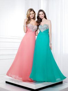 da386ba58592 Strapless A-line Beaded Crystal Zipper Prom Dresses 2014 Custom Made