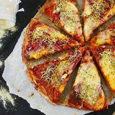 Pâte à pizza minute moelleuse protéinée et rapide à l'épeautre et au lupin du blog de Mailofaitmaison