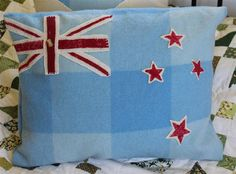 The ol' woolie cushion with NZ symbol...doesnt get more kiwi than that!