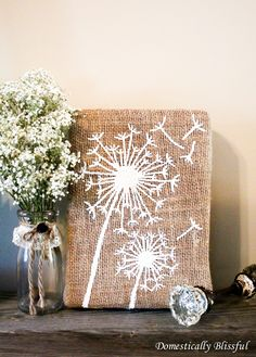 Britt: In Case You Need A B Day Idea For Me, This Is · Burlap ArtBurlap  CraftsBurlap Wall ...