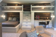 Coolest Bunk Room Ever And More At The Southern Living Showc.- Coolest Bunk Room Ever at the Southern Living Showcase Home in Montgomery, TX Source by NeuVerfoehnt - Home Bedroom, Bedroom Decor, Bedroom Furniture, Diy Furniture, Master Bedroom, Bunk Bed Rooms, Boys Bunk Bed Room Ideas, Queen Bunk Beds, Three Bed Bunk Beds