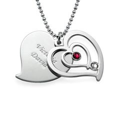This Overlay Heart Necklace will surely be treasured for years to come.