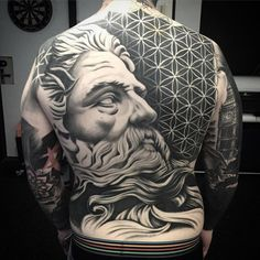 Back Tattoos For Guys - Zeus God - Discover The Best Back Tattoos For Men - Cool Back Tattoo Designs and Ideas For Guys - Unique Lower, Upper, and Full Back Back Tattoos 3d Tattoos For Men, Tattoos 3d, Black And Grey Tattoos For Men, Cool Back Tattoos, Back Tattoos For Guys, Back Tattoo Women, Trendy Tattoos, Lower Back Tattoos, Sleeve Tattoos