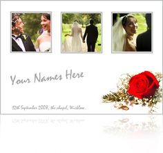 Wedding card with Couples Images