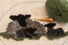 Rug Hooking With Locks Of Wool