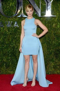 """daily–celebs: """" - Beth Behrs at the 2015 Tony Awards in NYC. """" Beth Behrs legs in a mullet dress Beth Behrs, Tony Award, Celebrity Red Carpet, Celebrity Style, Celebrity Dresses, Celebrity Pictures, Red Carpet Dresses, Blue Dresses, Glamour"""