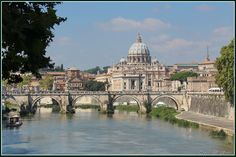 Рим,Тибр,купол Сан-Пьетро.Ambra 2456 на Яндекс.Фотках.