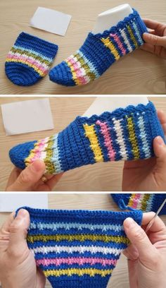 Crochet Colorful Slippers Related Posts:How to Crochet These Beautiful SlippersCrochet Colorful Cluster Stitch Free PatternCrochet Light Colorful BlouseCrochet Women Slippers Free Patterns DIY InstructionsLearn A New Crochet Stitch: Crochet Wave Stitch Crochet Slipper Pattern, Crochet Shoes, Crochet Slippers, Crochet Clothes, Crochet Baby, Free Crochet, Knit Crochet, Knitting Patterns, Crochet Patterns