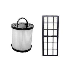 Crucial Vacuum Eureka DCF21 and HF7 Washable Filter Kit (vacuum filter), Black (Plastic)