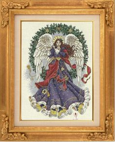 Melody of Christmas Cross Stitch Angels, Cross Stitch Charts, Cross Stitch Patterns, Christmas Cross, Christmas Angels, Christmas Stockings, Stitch 2, Blackwork, Needlepoint