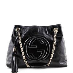 Gucci Black Patent Medium Soho Chain Bag - LOVE that BAG - Preowned  Authentic Designer Handbags 1f72db68f1f51
