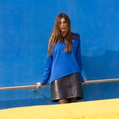 Leather Skirt, Skirts, Fashion, Templates, Crew Neck, Full Sleeves, Moda, Leather Skirts, Skirt