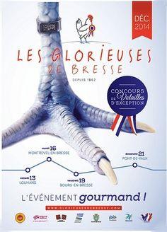 Depuis 1862, la Bresse célèbre les Glorieuses, un concours des plus belles volailles, les seules à bénéficier d'une AOP. Cet événement unique se déroule entre le 13 et le 21 décembre 2014 sur 4 jours, respectivement à Louhans, à Montrevel-en-Bresse, à...