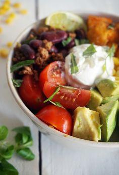 Sweet potato taco bowl