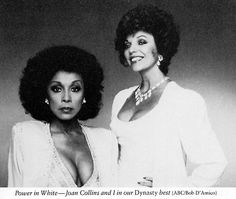 Diahann Carroll and Joan Collins