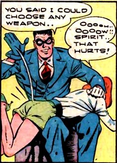 Spirit No. 42 comic book spanking Vintage Comic Books, Vintage Comics, Funny Vintage, Old Comics, Funny Comics, Mary Worth Comic, True Bride, Spanking Art, Getting Spanked
