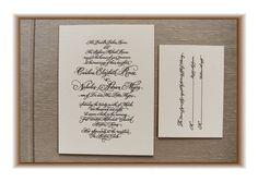 Calligraphy letterpress wedding invitations | bestselling + artisan printed | letterpress invitations, Thistleberry Press
