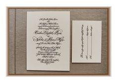 Calligraphy letterpress wedding invitations   bestselling + artisan printed   letterpress invitations, Thistleberry Press