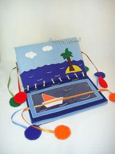 Cloth book for little kids - Vehicles/Stoffbuch für kleine Kinder - Fahrzeuge. $54.00, via Etsy.
