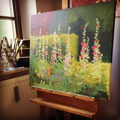 August on the easel for the Volksbank Kalender 2016