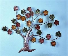 Autumn Maple Leaves Dimensional Tree Metal Wall Art Hanging Tree Sculpture #Unbranded #Traditional