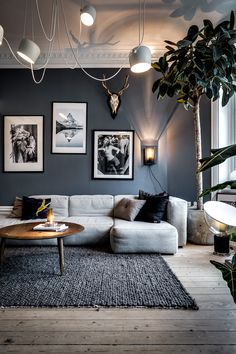 Inspiring Living Room by - Architecture and Home Decor - Bedroom - Bathroom - Kitchen And Living Room Interior Design Decorating Ideas - Living Room Grey, Living Room Interior, Home Living Room, Living Room Designs, Living Room Decor, Living Spaces, Living Room Ideas Black And White, Living Room Walls, Nordic Living Room