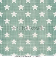 seamless stars pattern in retro blue - stock vector
