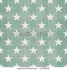 seamless stars pattern in retro blue - stock vector