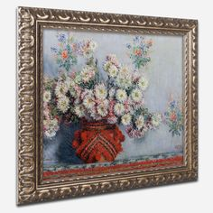 Chrusanthemums 1878 by Claude Monet Framed Painting Print