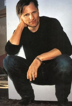 Viggo Mortensen.  I'm sure I've already pinned this at some point, but hey, it's Viggo!