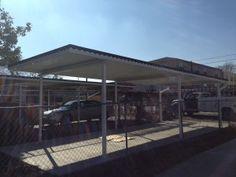 A metal car port we installed in Washington, DC